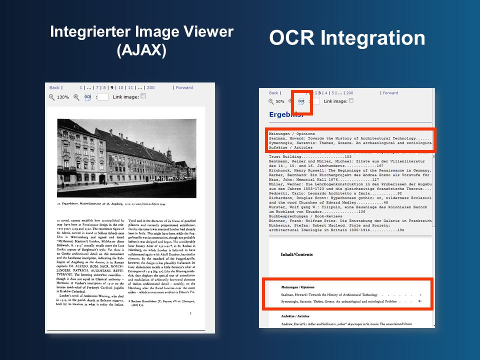 Integrierter Image Viewer (AJAX)