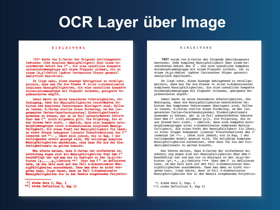 OCR Layer über Image