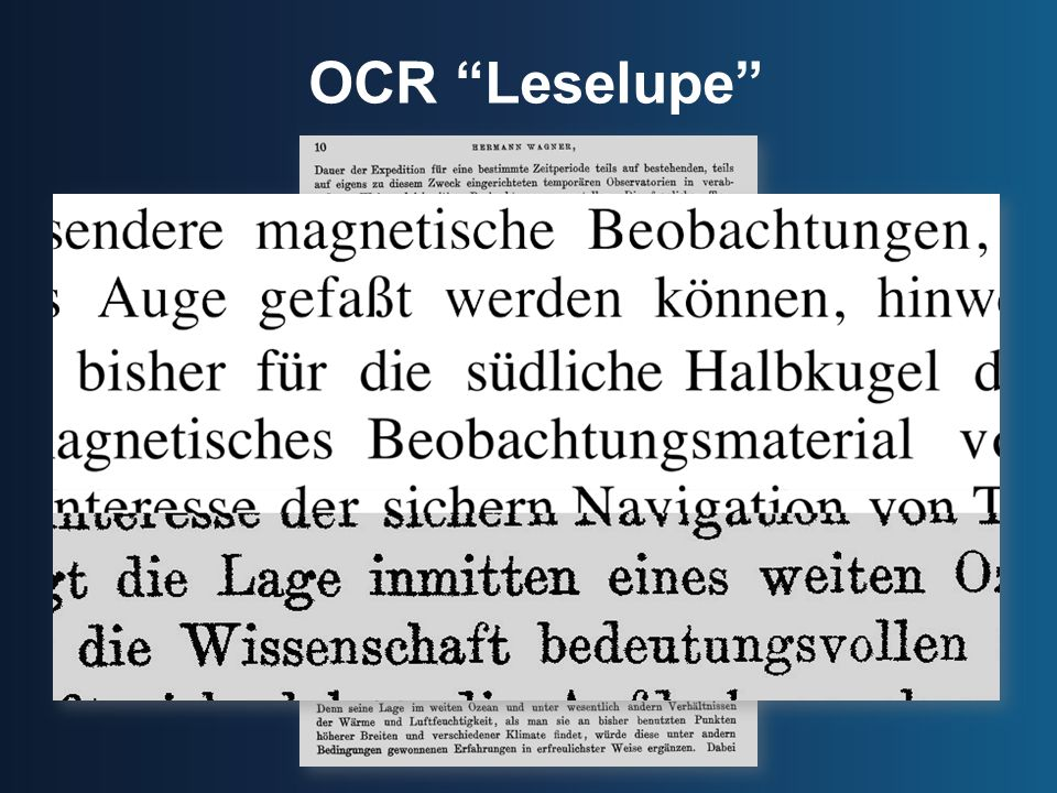 OCR Leselupe