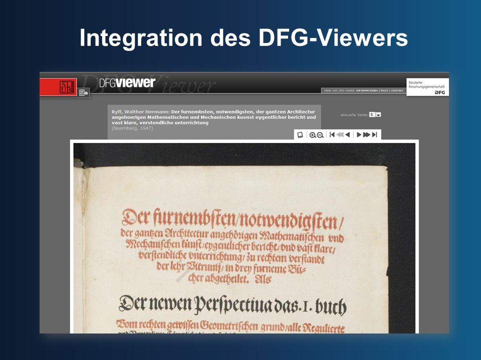 Integration des DFG-Viewers