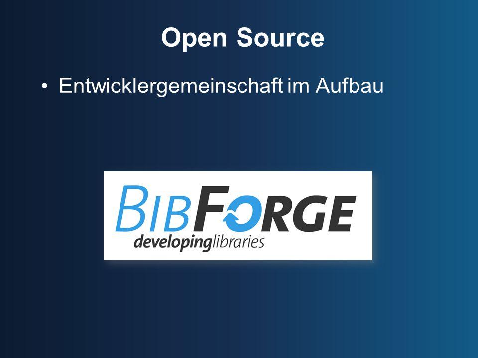 Open Source Entwicklergemeinschaft im Aufbau