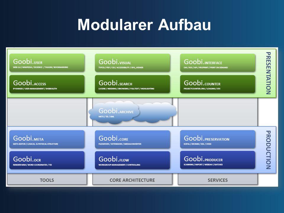Modularer Aufbau