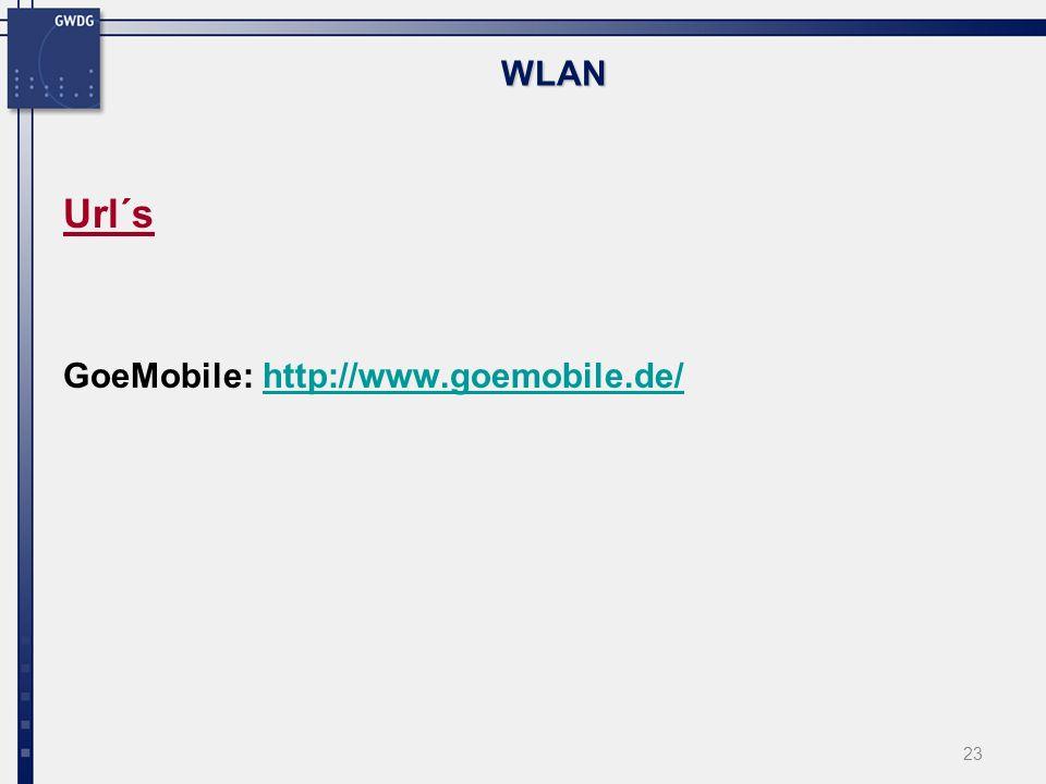 WLAN Url´s GoeMobile: http://www.goemobile.de/