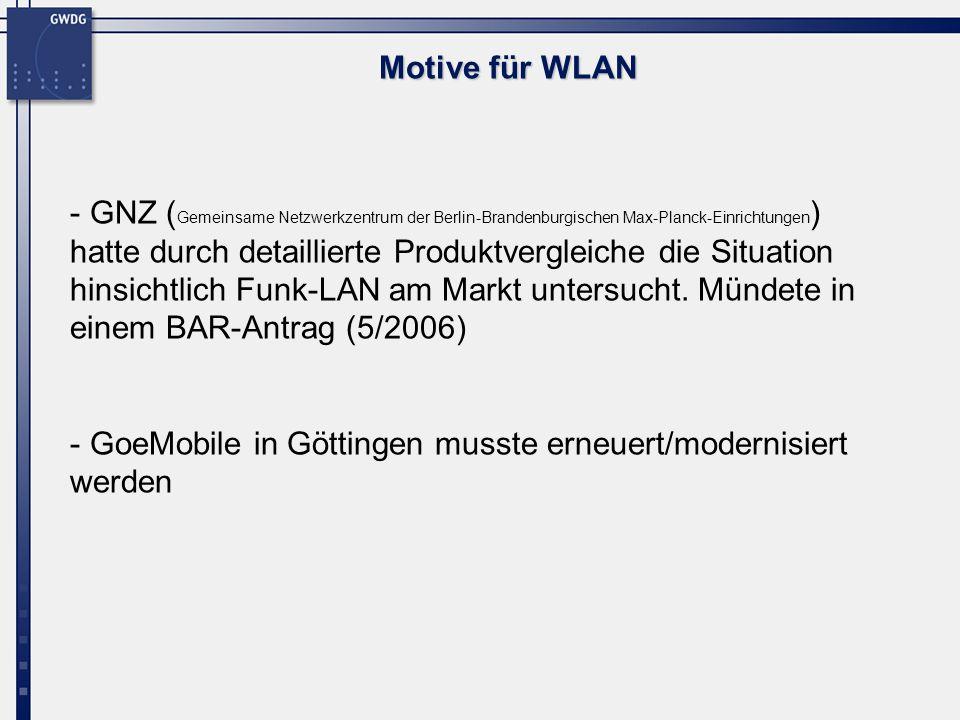 Motive für WLAN