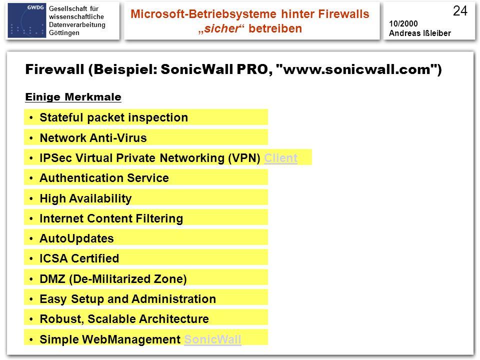 """Microsoft-Betriebsysteme hinter Firewalls """"sicher betreiben"""