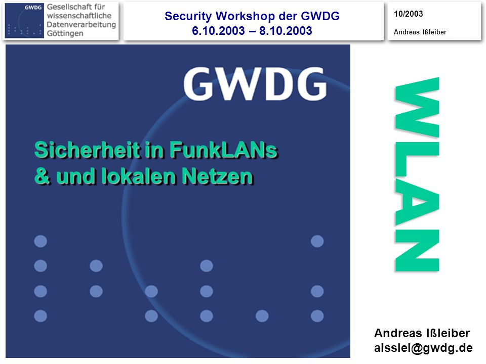 Security Workshop der GWDG