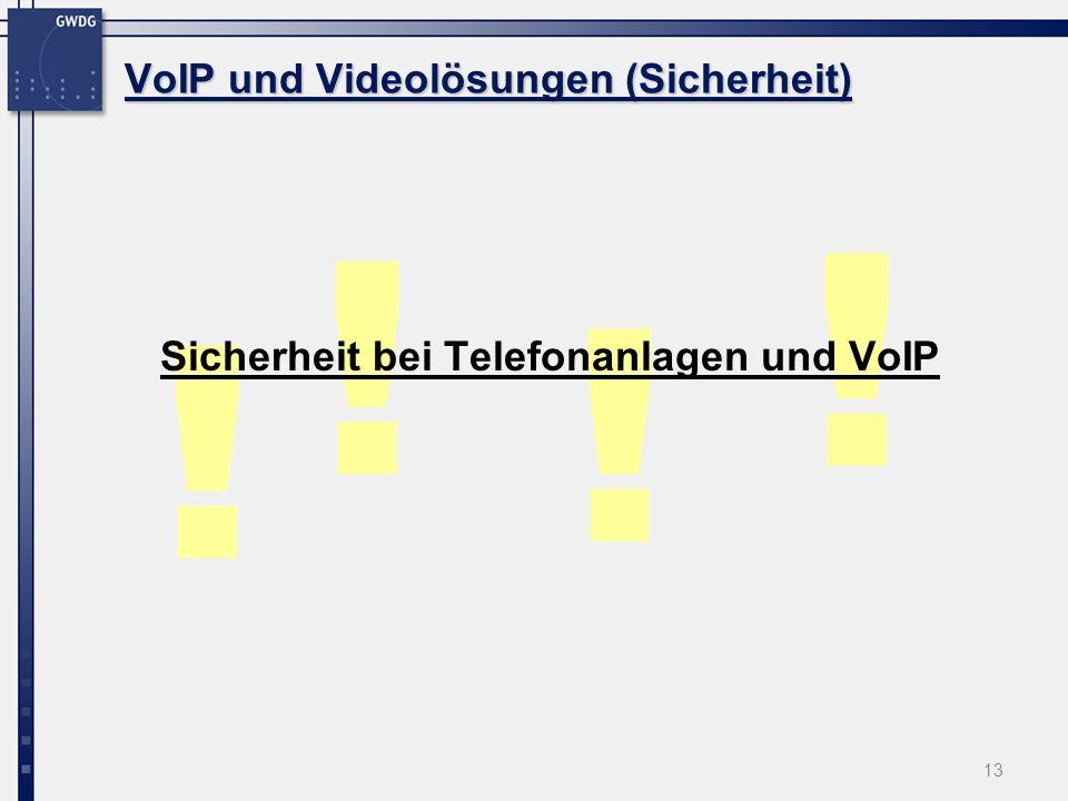 VoIP und Videolösungen (Sicherheit)