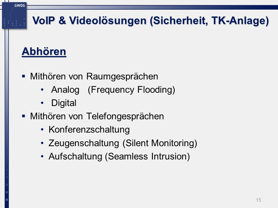 VoIP & Videolösungen (Sicherheit, TK-Anlage)