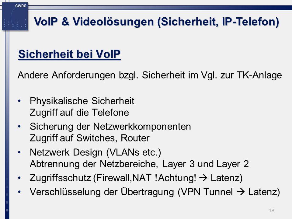 VoIP & Videolösungen (Sicherheit, IP-Telefon)