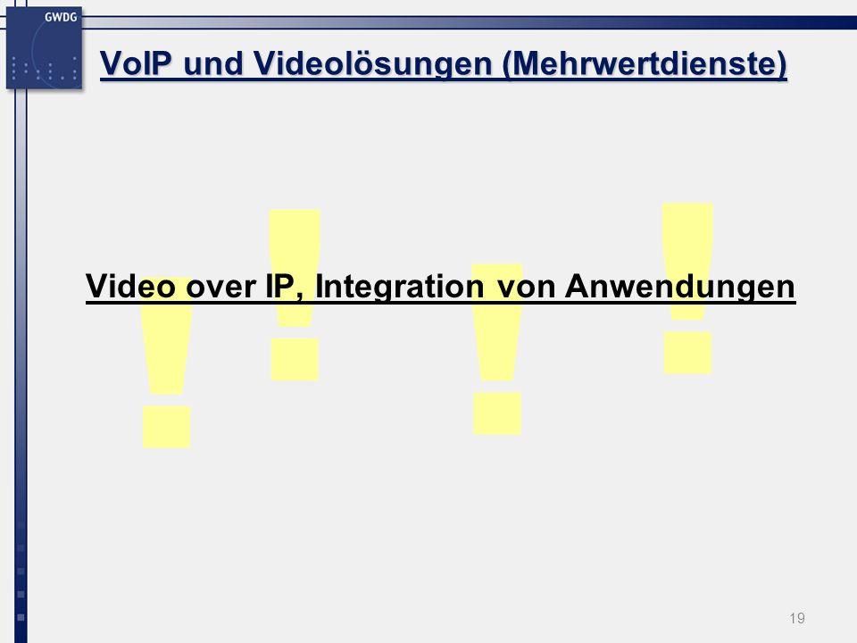 VoIP und Videolösungen (Mehrwertdienste)