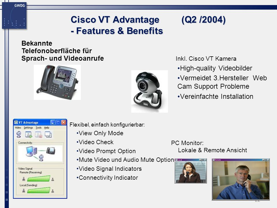 Cisco VT Advantage (Q2 /2004) - Features & Benefits