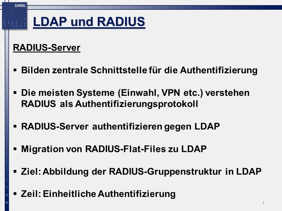 LDAP und RADIUS RADIUS-Server