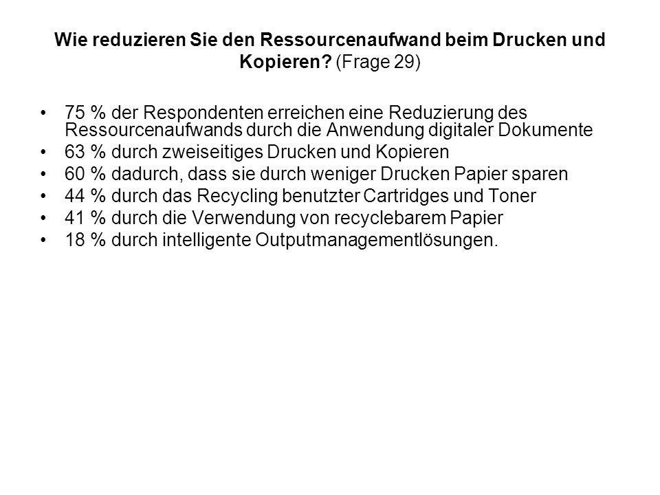 Wie reduzieren Sie den Ressourcenaufwand beim Drucken und Kopieren