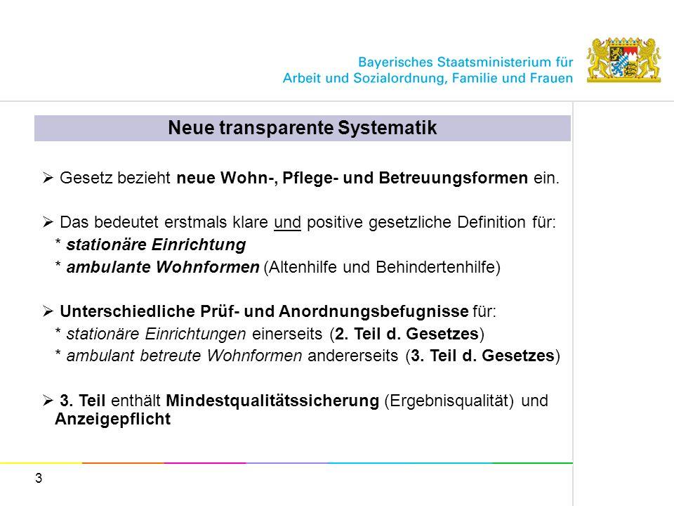 Neue transparente Systematik