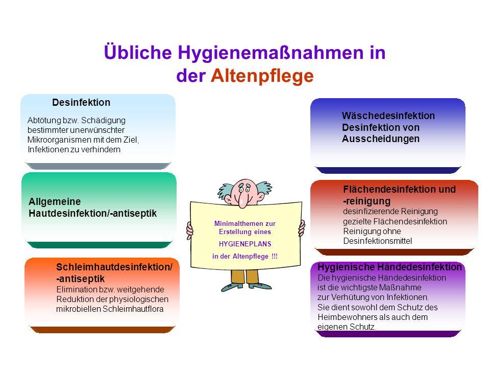 Übliche Hygienemaßnahmen in der Altenpflege