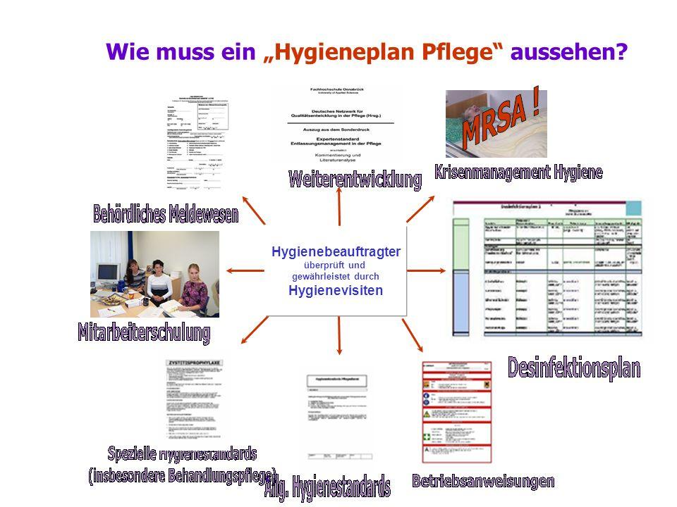 """Wie muss ein """"Hygieneplan Pflege aussehen"""