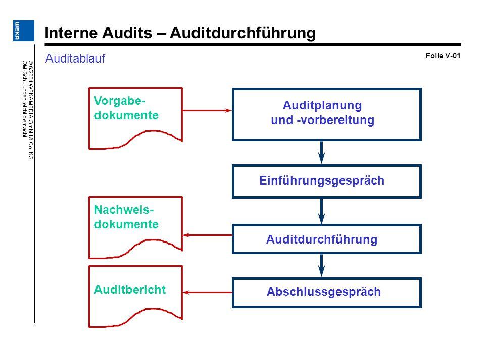 Interne Audits – Auditdurchführung