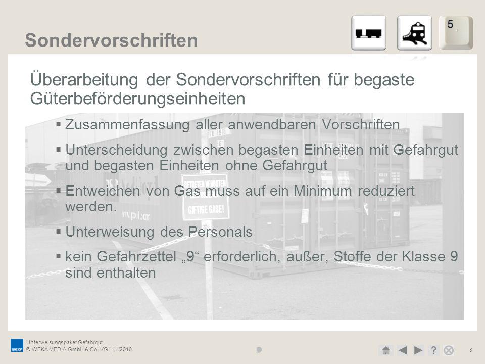 27.03.2017 Sondervorschriften. Überarbeitung der Sondervorschriften für begaste Güterbeförderungseinheiten.