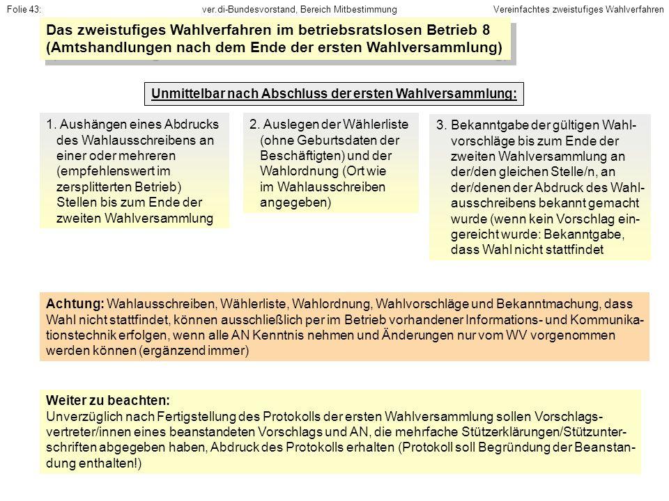 Das zweistufiges Wahlverfahren im betriebsratslosen Betrieb 8