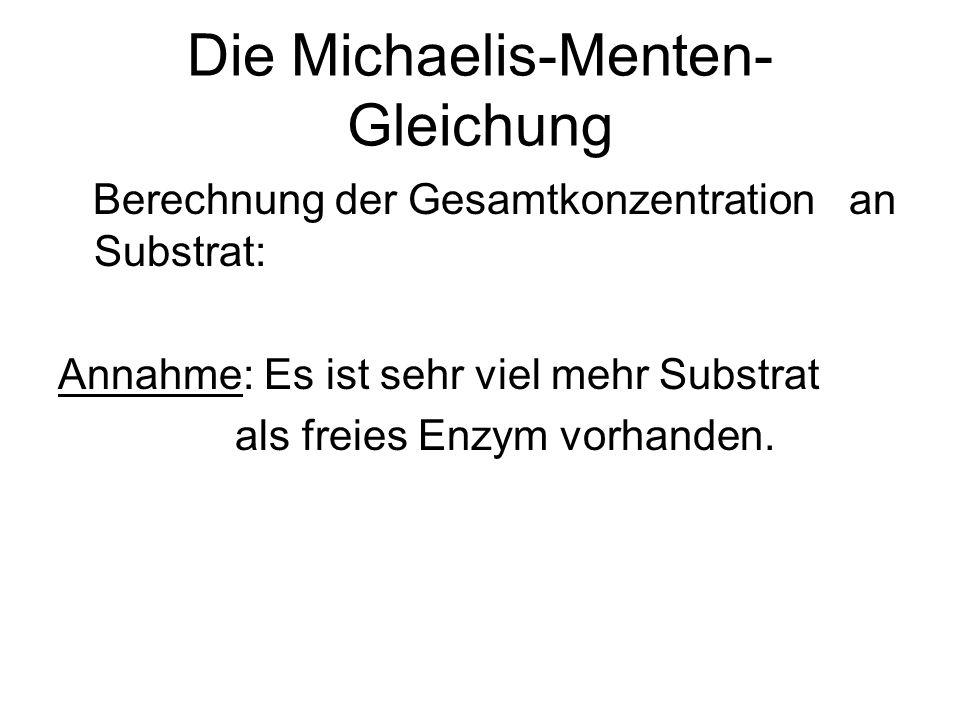 Die Michaelis-Menten-Gleichung