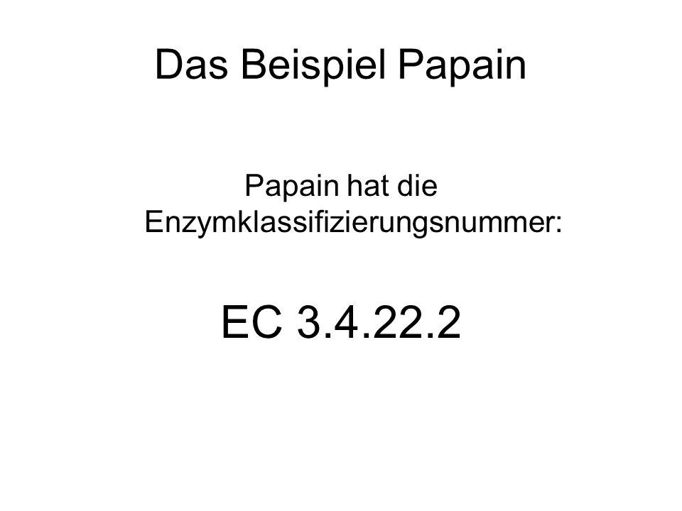 Papain hat die Enzymklassifizierungsnummer: