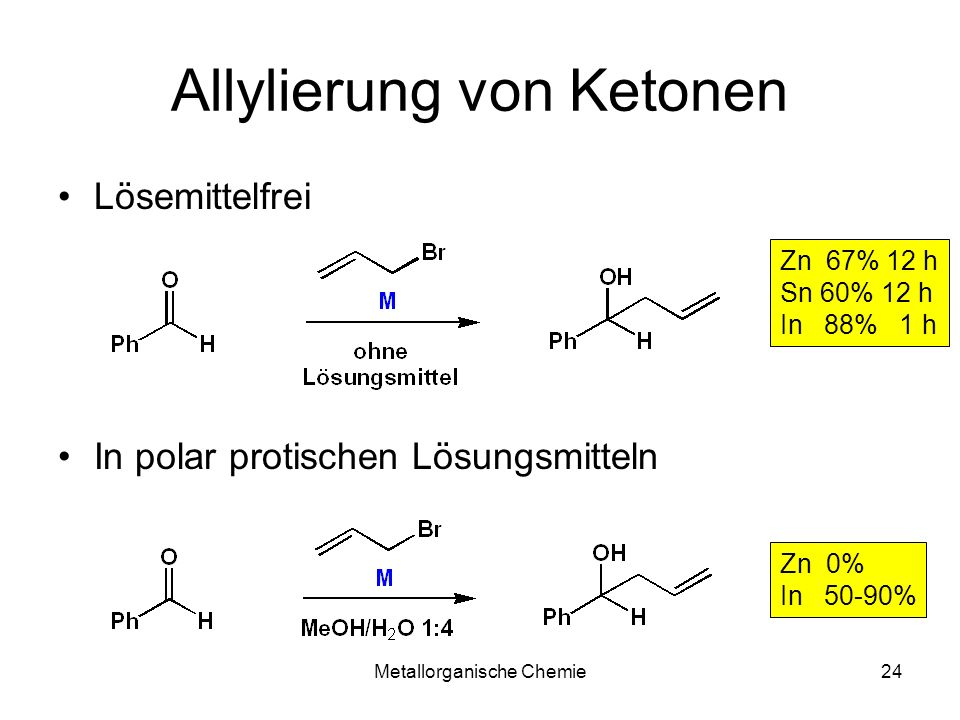 Allylierung von Ketonen