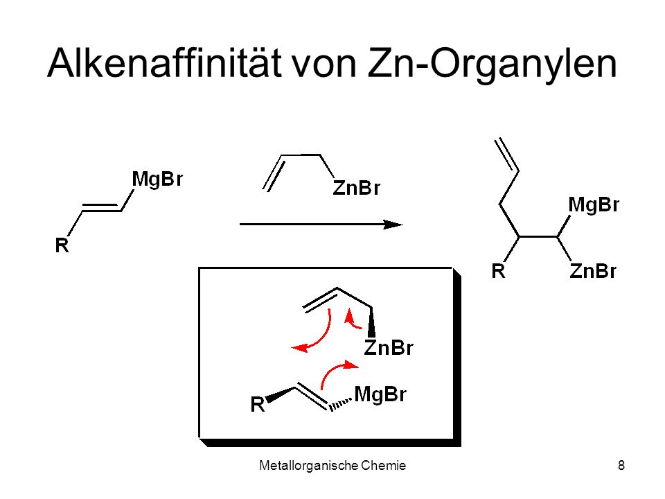 Alkenaffinität von Zn-Organylen
