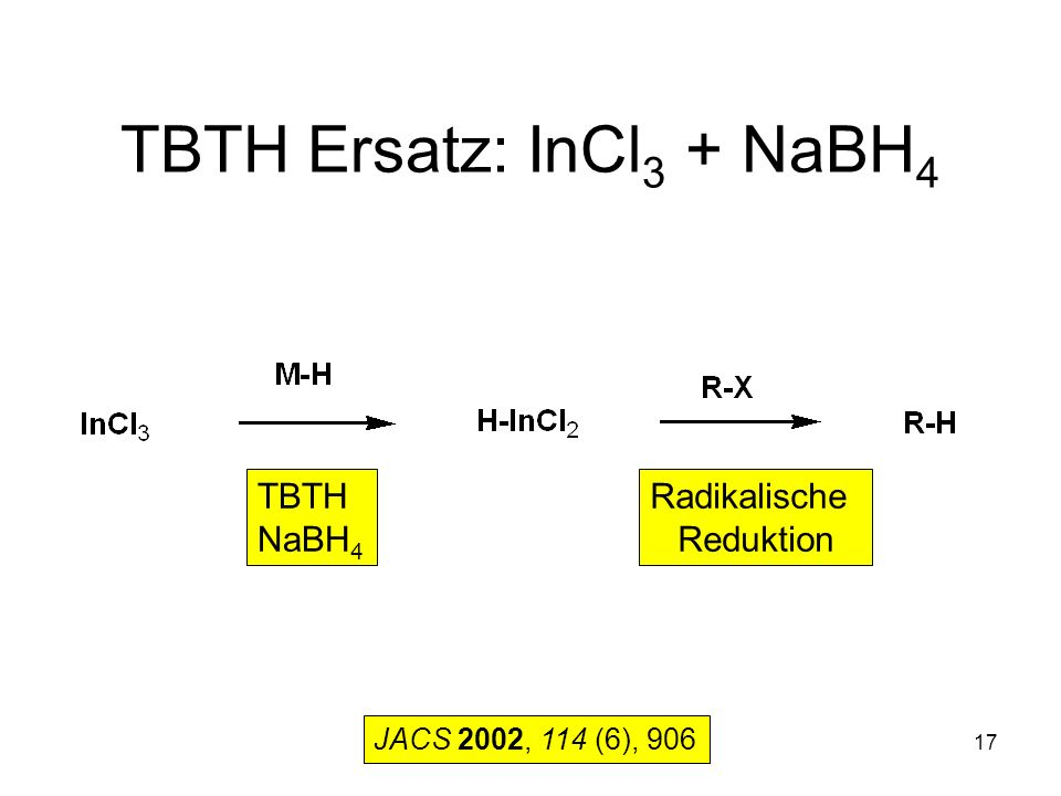 TBTH Ersatz: InCl3 + NaBH4