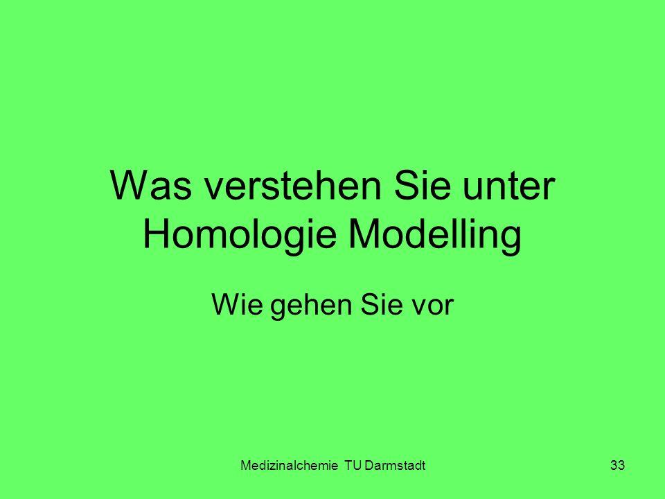 Was verstehen Sie unter Homologie Modelling