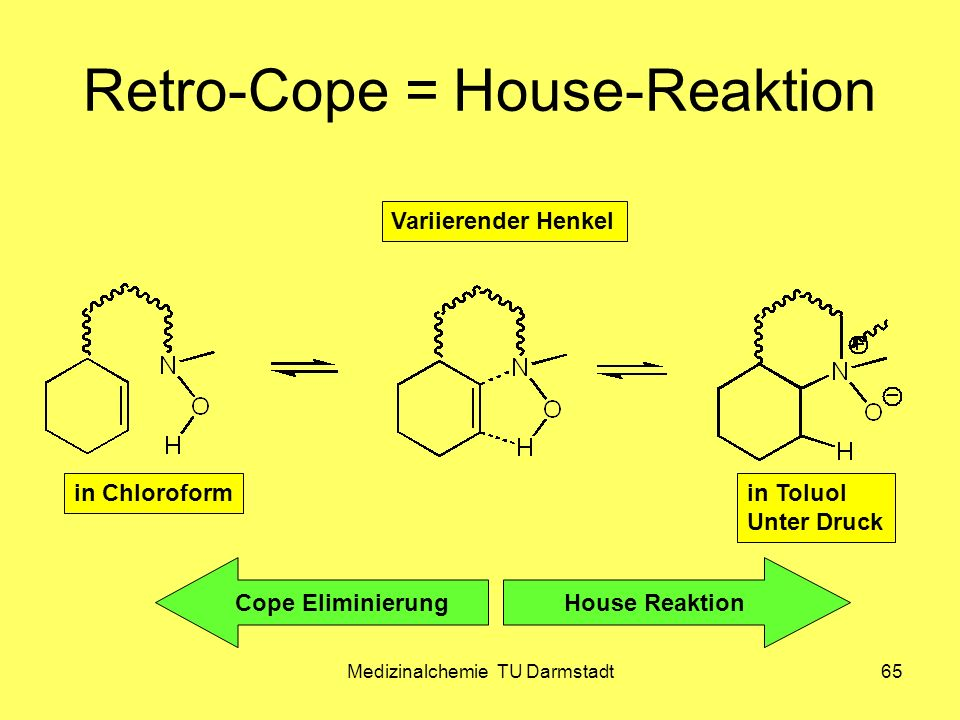 Retro-Cope = House-Reaktion