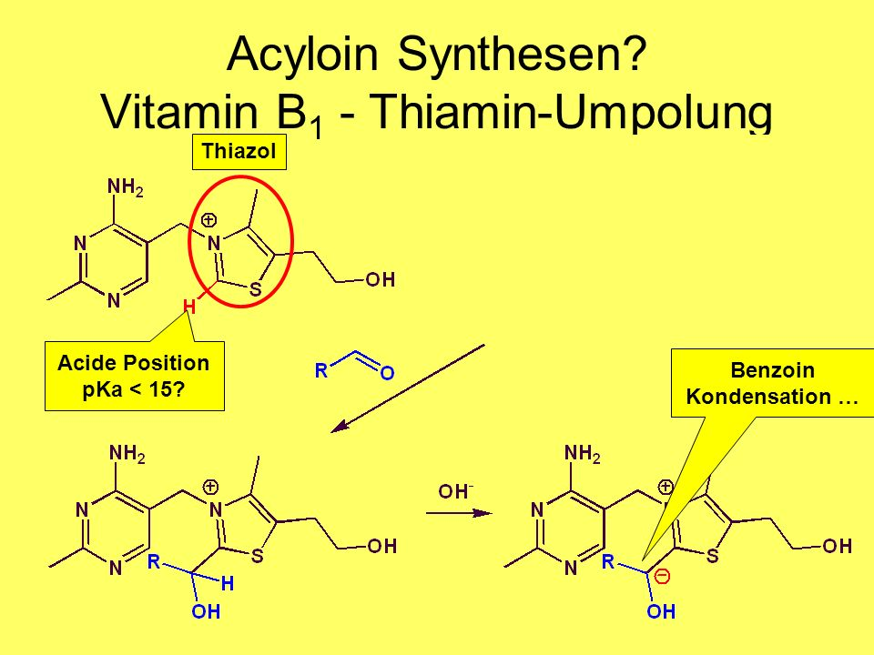 Acyloin Synthesen Vitamin B1 - Thiamin-Umpolung