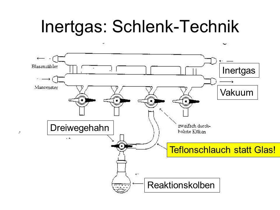 Inertgas: Schlenk-Technik
