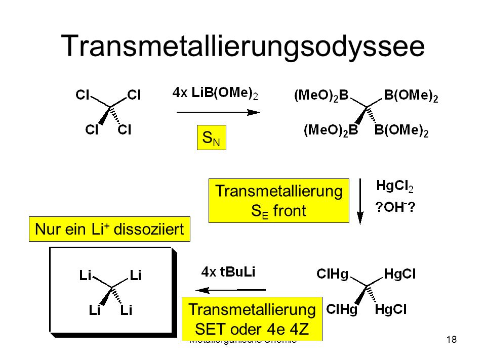 Transmetallierungsodyssee
