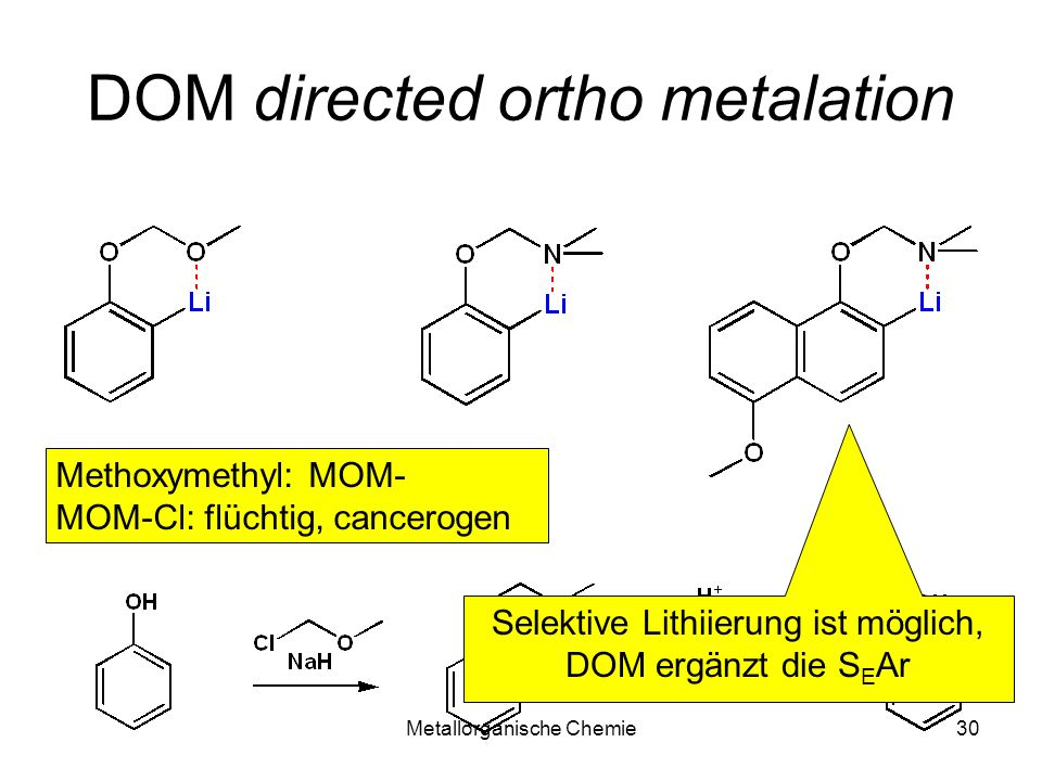 DOM directed ortho metalation
