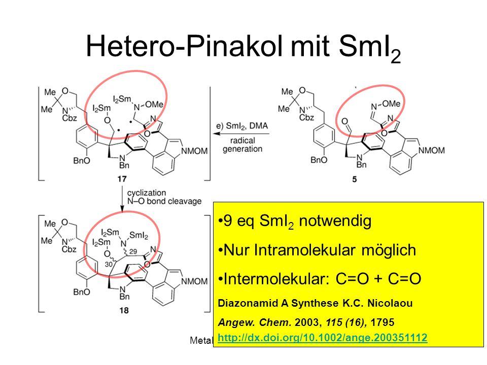 Hetero-Pinakol mit SmI2