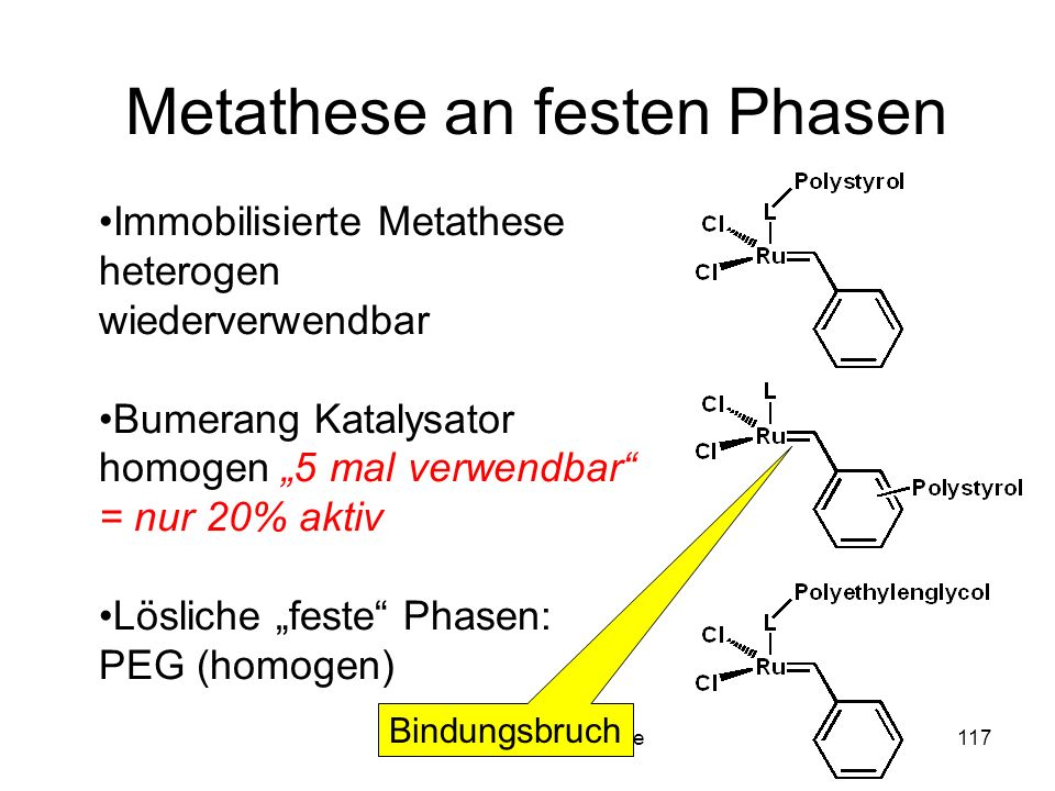 Metathese an festen Phasen