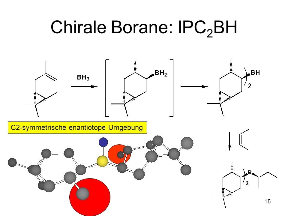 Chirale Borane: IPC2BH C2-symmetrische enantiotope Umgebung