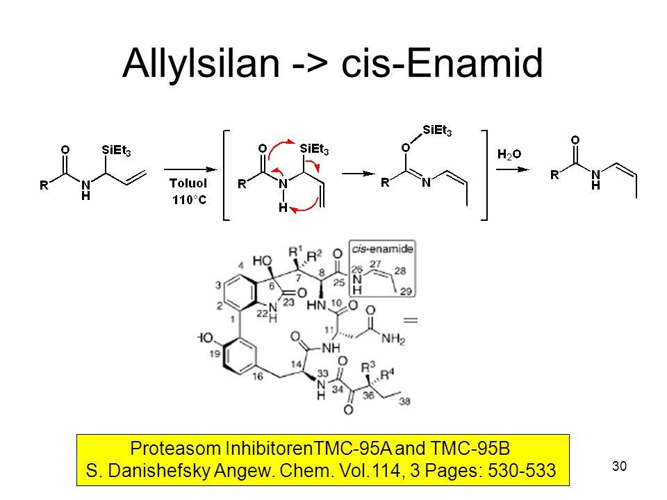 Allylsilan -> cis-Enamid