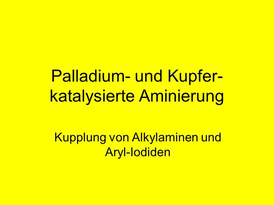 Palladium- und Kupfer- katalysierte Aminierung