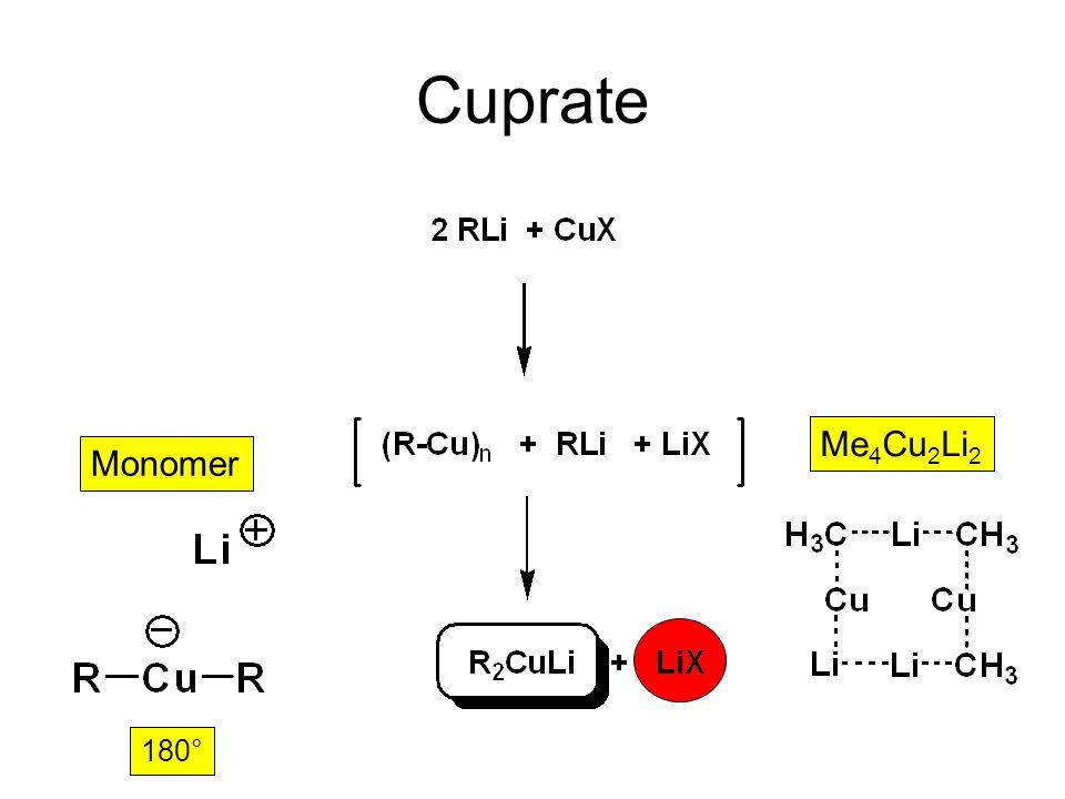 Cuprate Me4Cu2Li2 180° Monomer