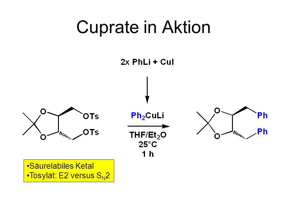 Cuprate in Aktion Säurelabiles Ketal Tosylat: E2 versus SN2