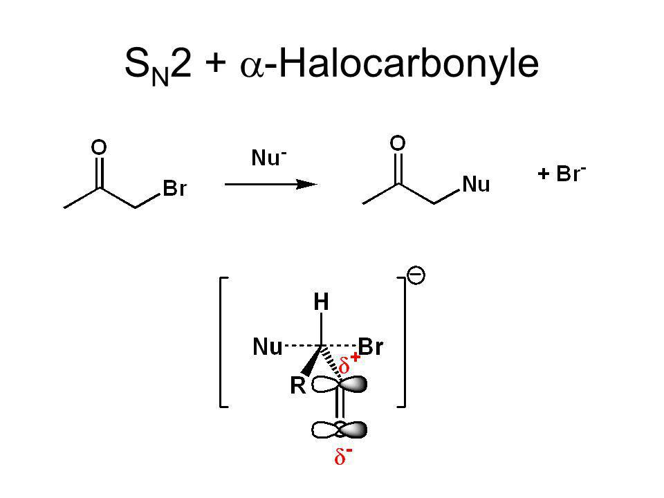 SN2 + a-Halocarbonyle