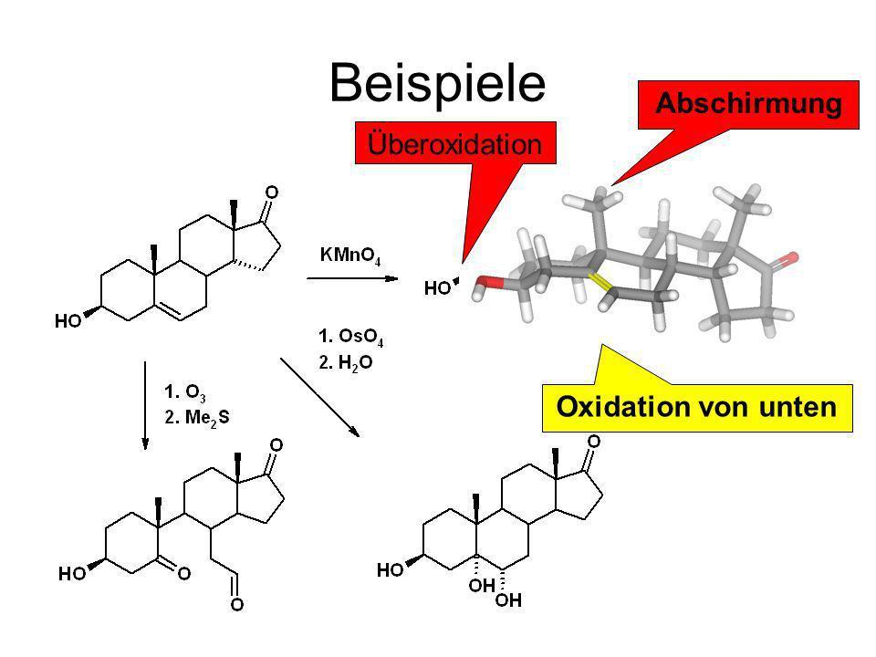 Beispiele Abschirmung Überoxidation Oxidation von unten