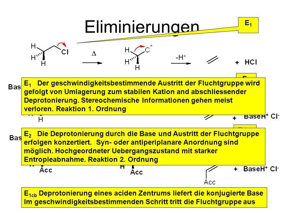 Eliminierungen E1. E2.
