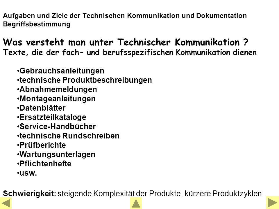 Was versteht man unter Technischer Kommunikation