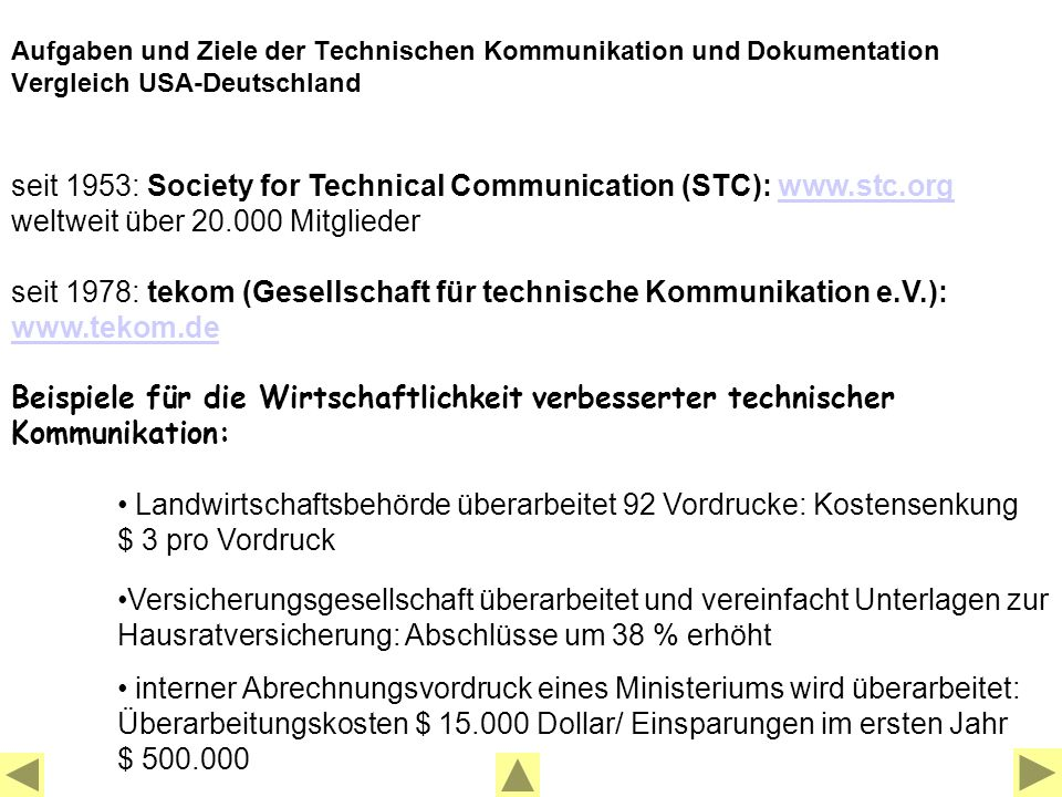 seit 1953: Society for Technical Communication (STC): www.stc.org