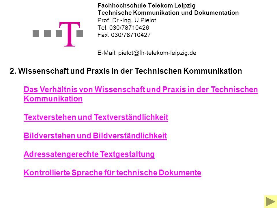 Grundlagen der Technischen Kommunikation und Dokumentation