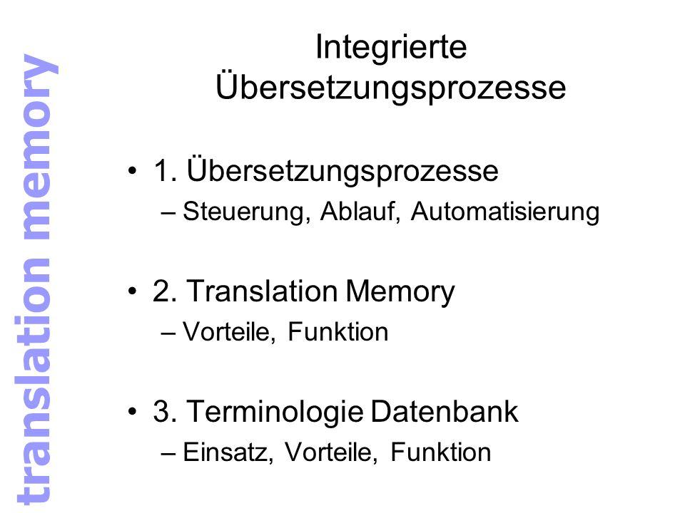 Integrierte Übersetzungsprozesse