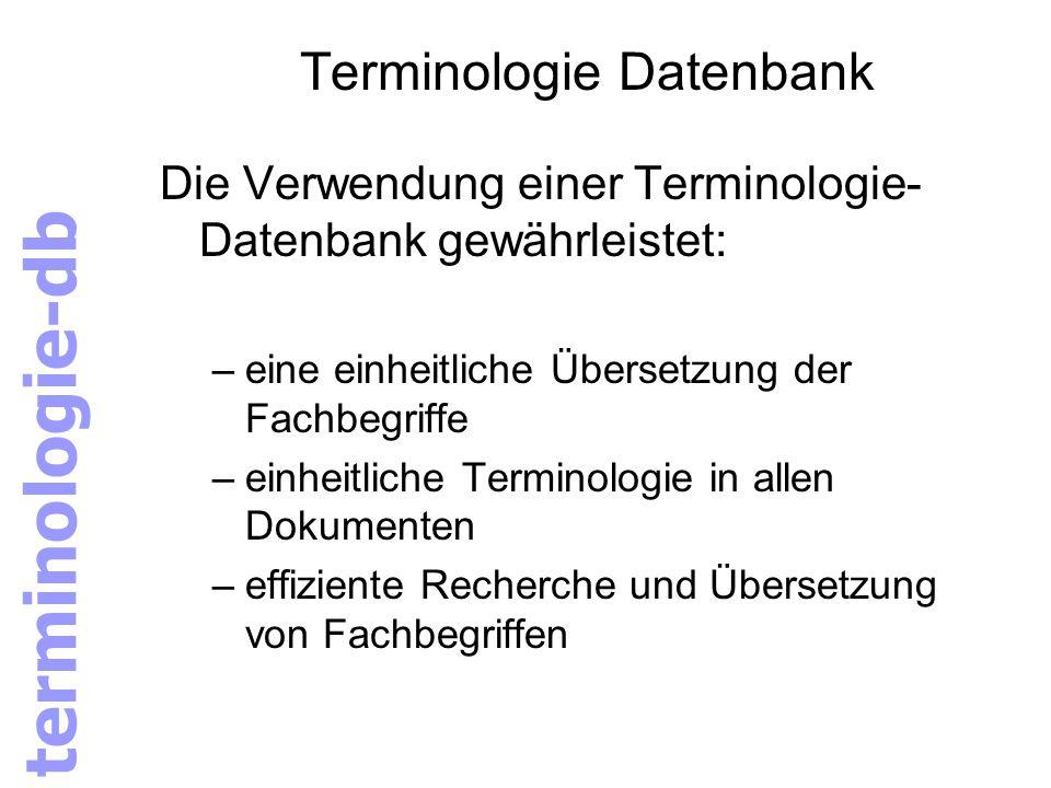 Terminologie Datenbank
