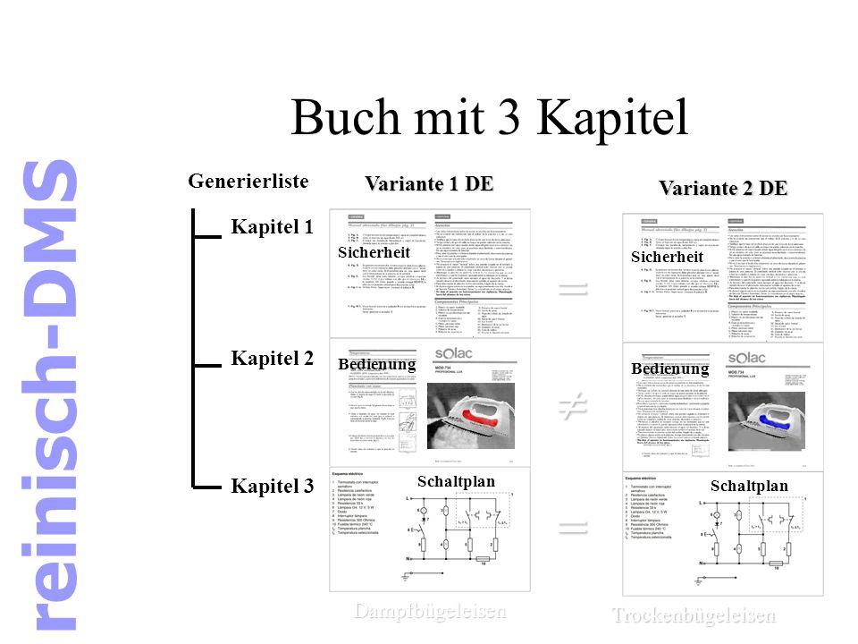 reinisch-DMS Buch mit 3 Kapitel =  Generierliste Variante 1 DE